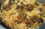 طرز تهیه پلوی عربی
