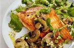 طرز تهیه خوراک ماهی و قارچ
