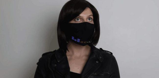 ماسک صورت ال ای دی، یک فناوری فوق العاده که با گوشی همراه کنترل می شود!