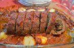 طرز تهیه رولت گوشت فرانسوی با مرغ
